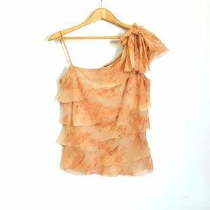 BCBG MaxAzria 100% Silk Top Peachy Size 6